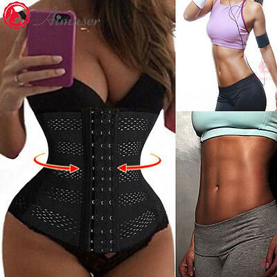 Women Waist Trainer Training Cincher Corset Body Shaper Shapewear Breathable AU
