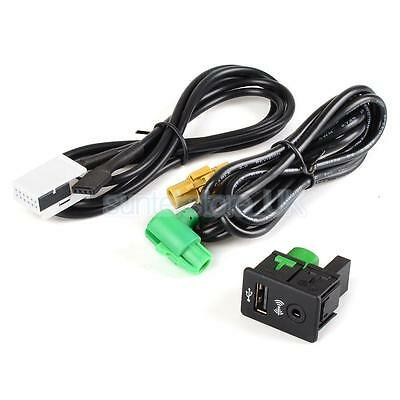 USB Aux-in Button Switch Cable fors VW Passat Golf MK6 Jetta Radio RCD310