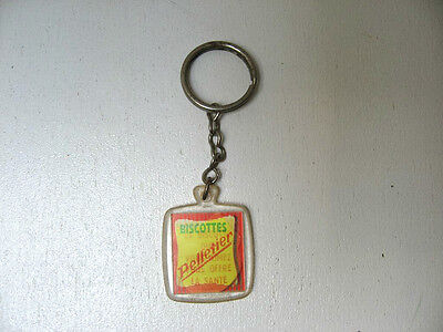 Porte Cle Ancien Visiomatic Biscottes Pelletier / Vintage French Keychain Pc2