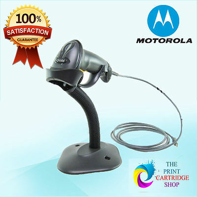 New Motorola Symbol LS2208 SR20007R-UR USB Barcode Scanner With Stand GST INC