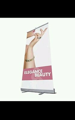/ Portable Roller Banner 800mm Pull up, Roll up, Exhibition, Display Stand