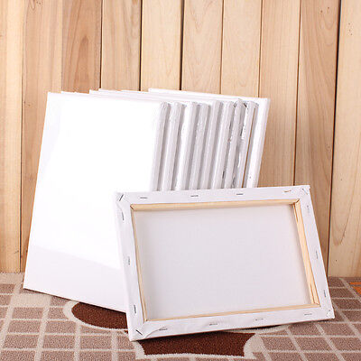 Stretched Blank Drawing Canvas Art Wood Frame Artist Painting Draw 5 size Craft