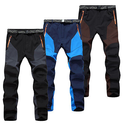 Good Men Fashion Waterproof Breathable Fleeced Outdoor Hiking Pants Trousers1583