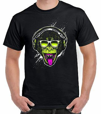 Funky Monkey DJ Men's T-Shirt - Monkeys Clubbing Ibiza House Music