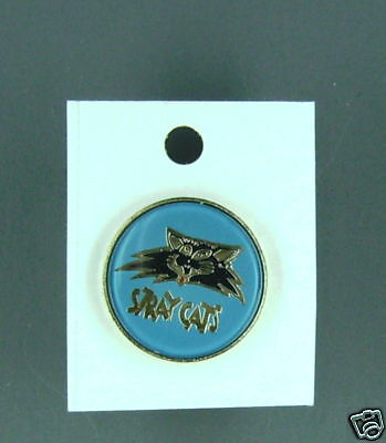 RARE VINTAGE Stray Cats blue enamel Pin CONDITION NEW