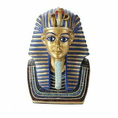 "Ancient Egyptian King Tut Pharaoh Tutankhamun Head Bust Mask 5"" Tall Figurine"