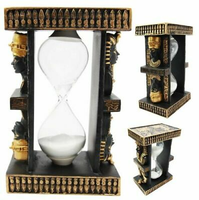 Ancient Egyptian King Tut & Queen Nefertiti Sand Timer Sandtimer Desk Figurine