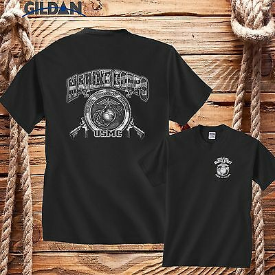 new design Marine Corps Kicking A Since 1775 USMC Funny Military TShirt ALL size