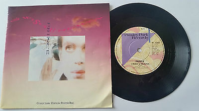 "PRINCE ""I WISH U HEAVEN"" 7"" vinyl Posterbag UK"