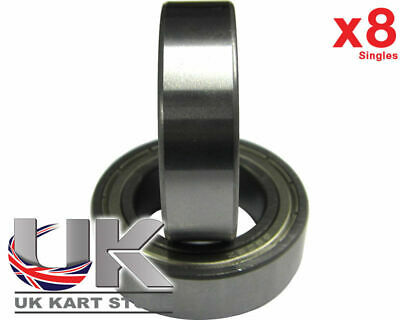 TonyKart / OTK Front Hub Bearings x 8 (6905z) 25 x 42 x 12mm UK KART STORE