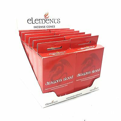 Elements Dragon Blood - Incense Doop Cones X 1 Packet Of 15 Cones