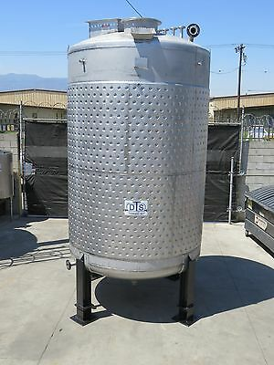 3000 gallon 316 type stainless steel jacketed process tank