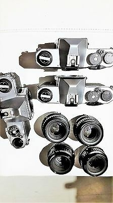 Lot Of 3 Pentax K1000 With 4  Lens Smc Pentax-A 1:2 50Mm