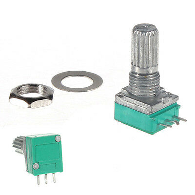 50 K ohm Linear Rotary Pot Potentiometer With Nut & Spacer WS