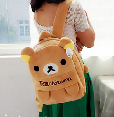 FD4396* Cartoon San-X Rilakkuma Relax Bear Cartoon Backpack Bag School Bag Gift