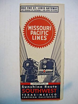 1945 Missouri Pacific Lines Time Table