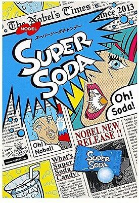 Japanese Extreme Super Soda Sour Flavored Hard Candy Nobel 3.1 Oz f/s
