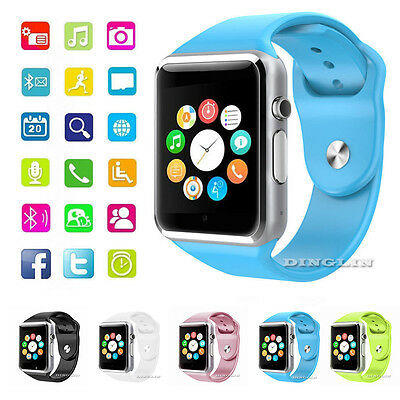 W8 Smart Wrist Watch Bluetooth GSM Phone Camera Pedometer For Android Apple iOS