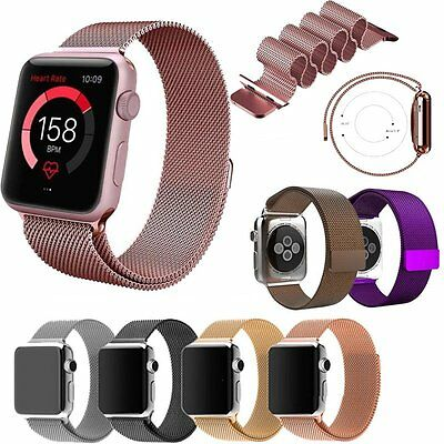 Milanese Magnetic Loop Stainless Steel Strap Watch Band For Apple Watch EU