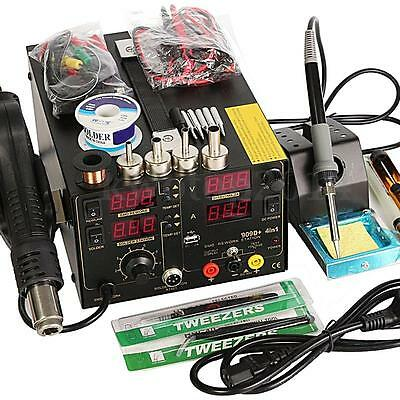 4 In1 Rework Soldering Station Hot Heat Air Gun USB Power Supply 220V 800W 909D+