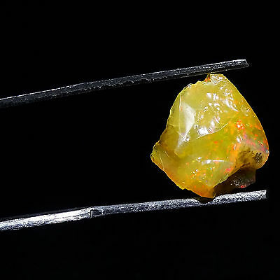 4.15Cts 100% Natürlich Rough ETHIOPIAN OPAL Welo Fire Calibrated Loose Edelstein