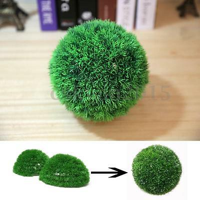 28cm Plastic Conifer Topiary Ball Grass Hanging Boxwood Plant Garden Patio Decor