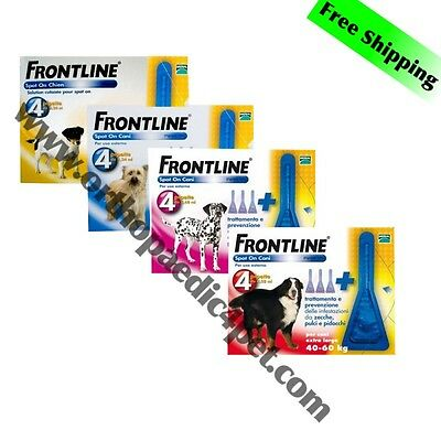 FRONTLINE SPOT ON Flea & Tick for DOGS 4 Pipettes SPECIAL OFFER!