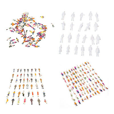100x HO Scale Mix Painted Model Train Park Street Passenger People Figures WS