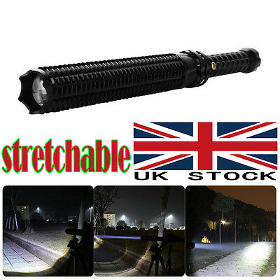 CREE Q5 LED Zoomable 3 Modes Baseball Bat Flashlight Torch Lamp Security UK BEST
