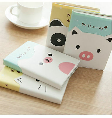 """""""Happy Animals"""" Cute Diary Pocket Planner Leather Cover Journal Notebook 1pc"""