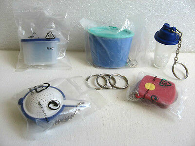 LOT 4 PORTE CLE TUPPERWARE + 1 MAGNET / keychain PC7