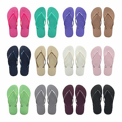 Original Havaianas Flip Flops New Slim Beach Sandals Women NIB All Sizes Colors