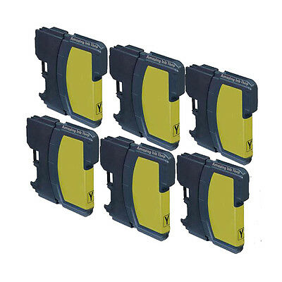 6 Compatible Yellow Ink Cartridge For LC-1100Y MFC 6490CW 6870CDW 6890CDW