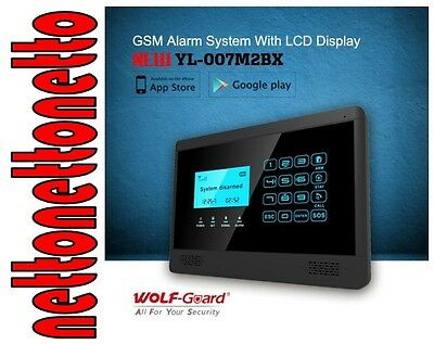 Kit Centrale Antifurto Wolf-Guard Yl-007M2Bx - Wireless,gsm,touch,lcd