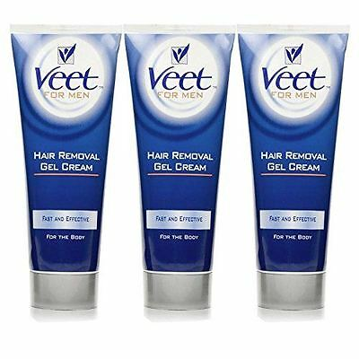 Veet 200ml Men Hair Removal Gel Cream - 3 Pack