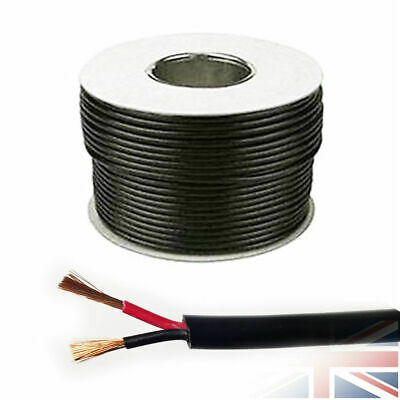 16.5 AMP 1.0mm ROUND 12V 24V 2 Twin Core DC Power Cable Wire Car LED Light Auto