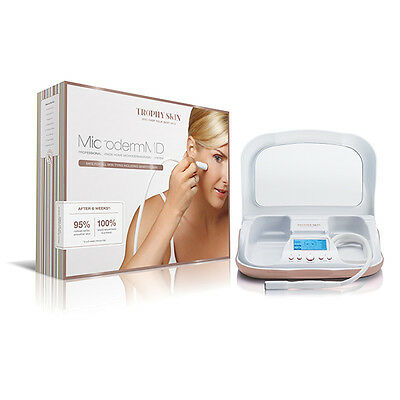 Microderm MD - By Trophy Skin Home Microdermabrasion Machine **Free Body Tip**