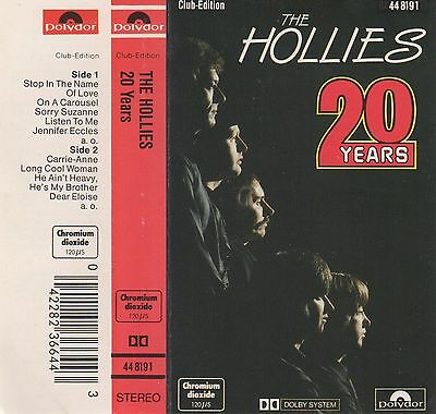 THE HOLLIES 20 Years MC Tape MUSIKKASSETTE Polydor Germany LONG COOL WOMAN