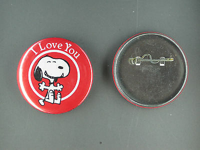 Snoopy I Love You peanuts vintage pin