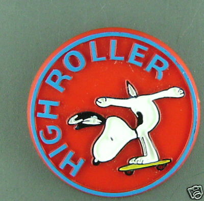 Snoopy High Roller Vintage  Button New