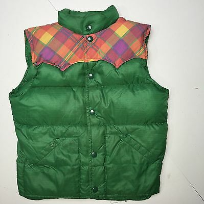 SCA SBM Vtg Child Kids Miller Outerwear Down Vest Green