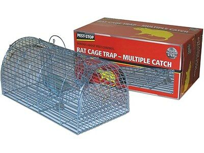 Pest-Stop Multi Catch Rat Cage Trap-Just Add The Bait! Usable Indoor And Outdoor