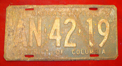 Vintage 1956 District of Columbia License Plate