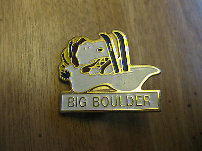 Snoopy Big Boulder  Ski Resort   Claps Pin  Vintage