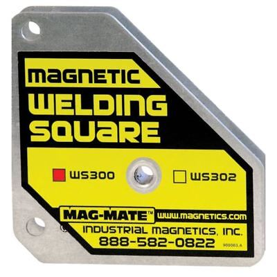 """MAG-MATE WS300 Magnetic Welding Square 5/8"""" T x 3 3/8""""W x 3 3/8"""" L"""