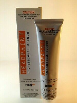 Fudge Head Paint Shades 1-7 60Ml Tube Permanent Color Unisex New Style Packaging
