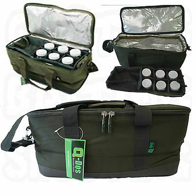 Q Dos Carp Coarse Fishing Tackle Bait System Insulated Carryall Glug Pots New