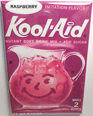 "Raspberry Kool Aid 2""x3"" Fridge or Locker MAGNET"