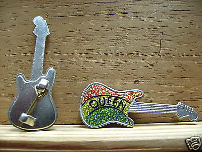 Rare Vintage Queen  Guitar Shape Pin