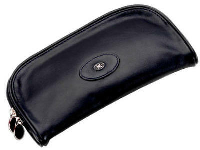 Hans Kniebes Essen Leather Cosmetic Pouch Black